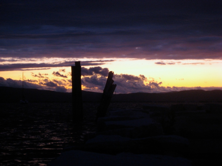 Lake Champlain at sunset