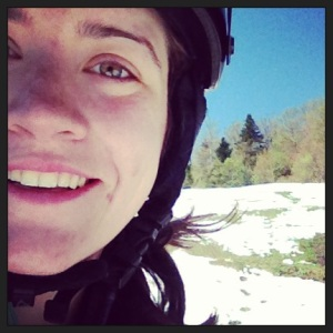 Smiling in May on Snow at Stowe