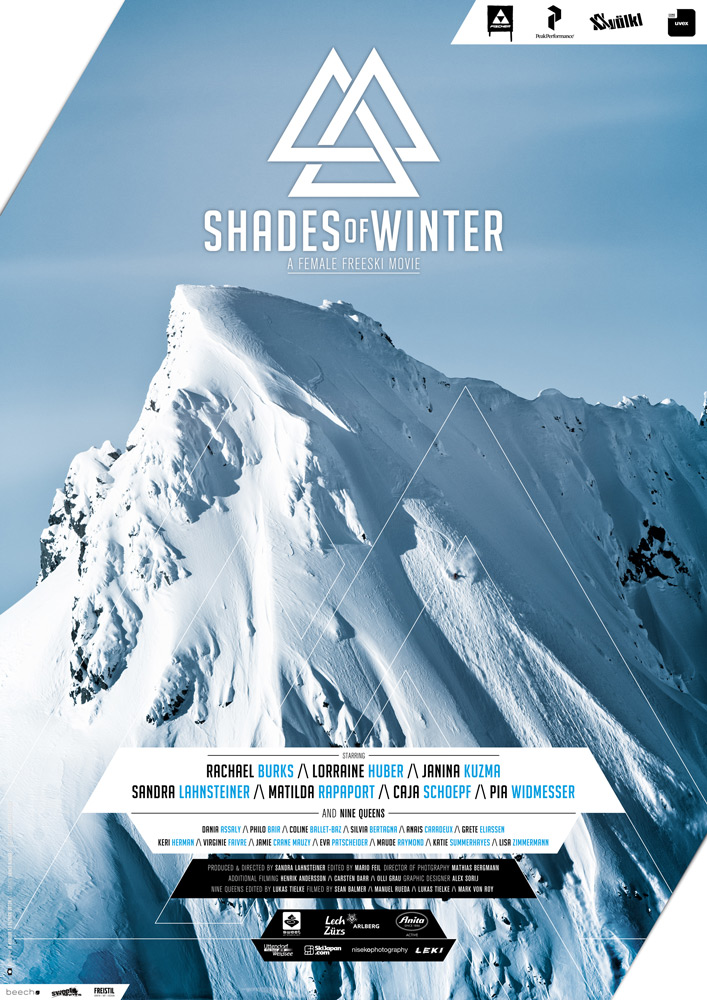 Shades of Winter poster – Ladies who rip.