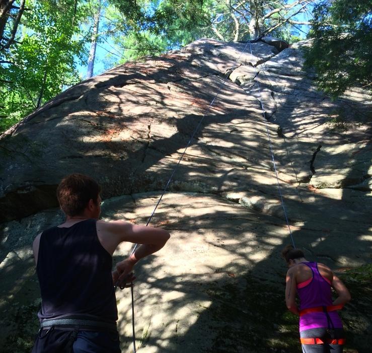 Climbing near Stratton